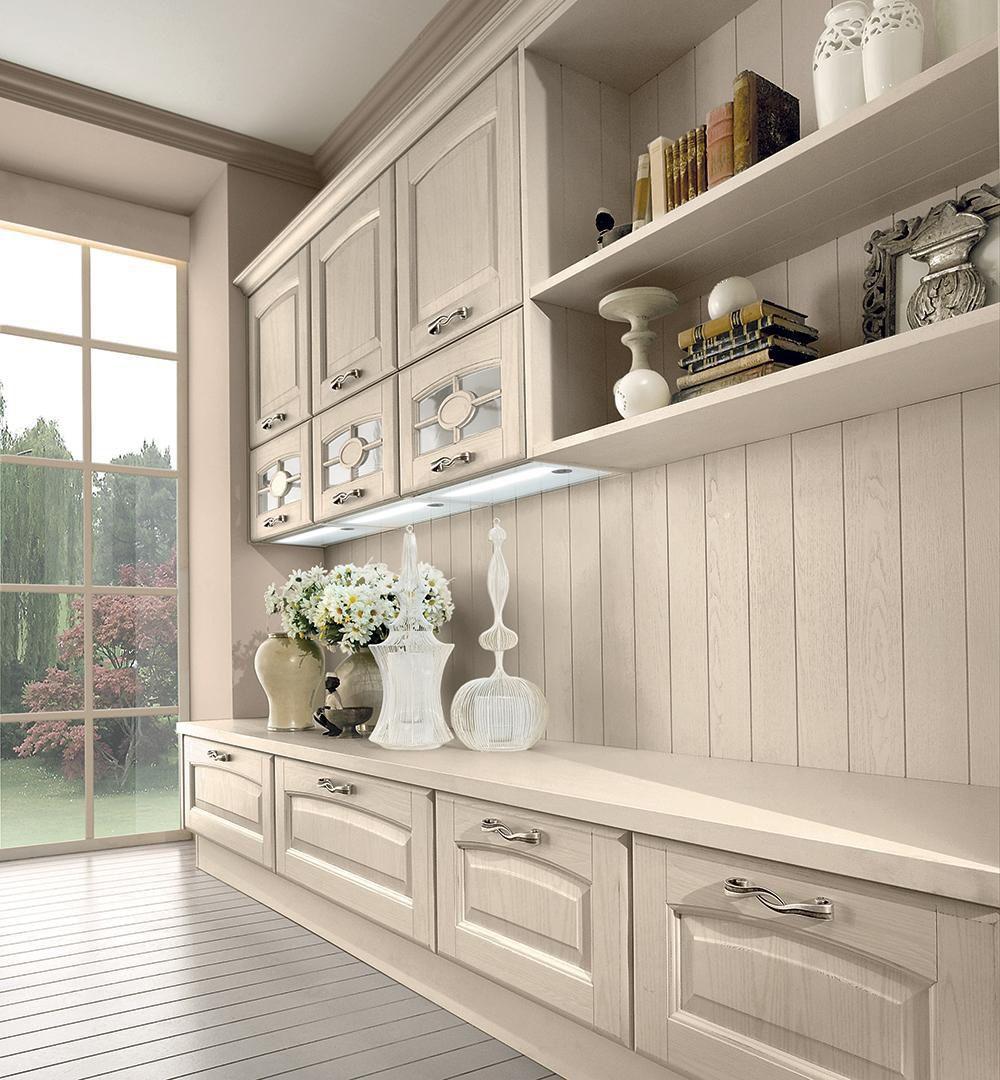 Cucina classica / in legno massiccio / con isola / con ...