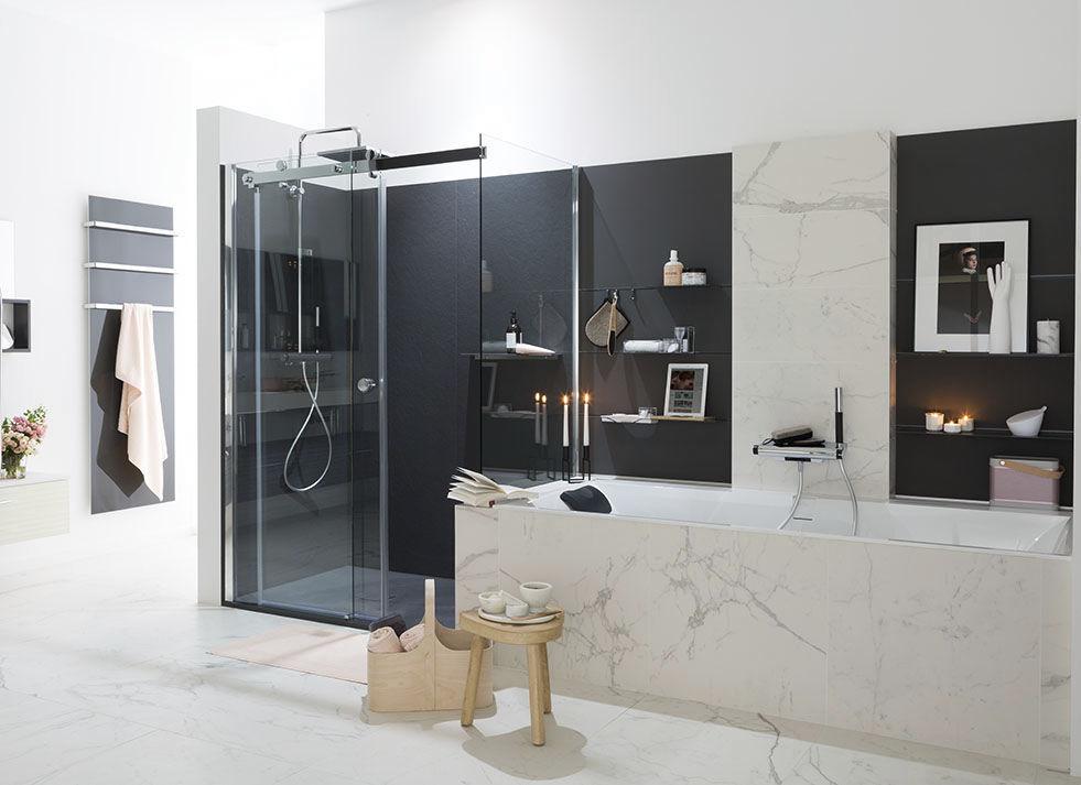 Bagni Moderni In Marmo.Bagno Moderno Ambiance Design Mobalpa In Legno Laccato In