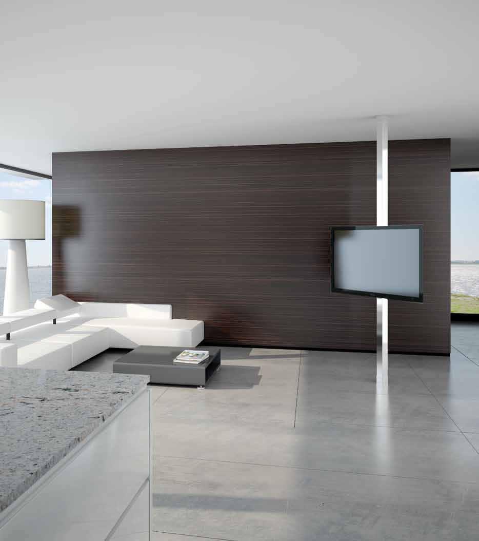 Tubo Porta Tv.Supporto Per Tv Da Terra Moderno Girevole Pavimento