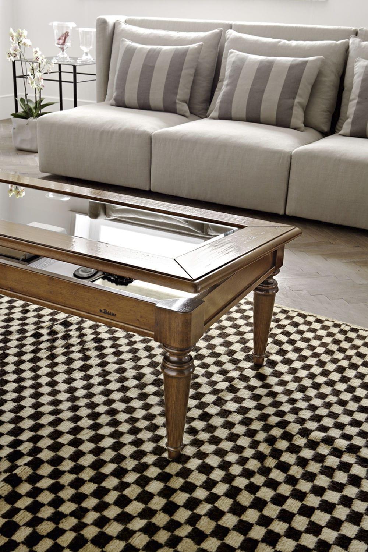 Tavolini Da Salotto Le Fablier.Tavolino Basso Classico In Noce In Vetro Rettangolare
