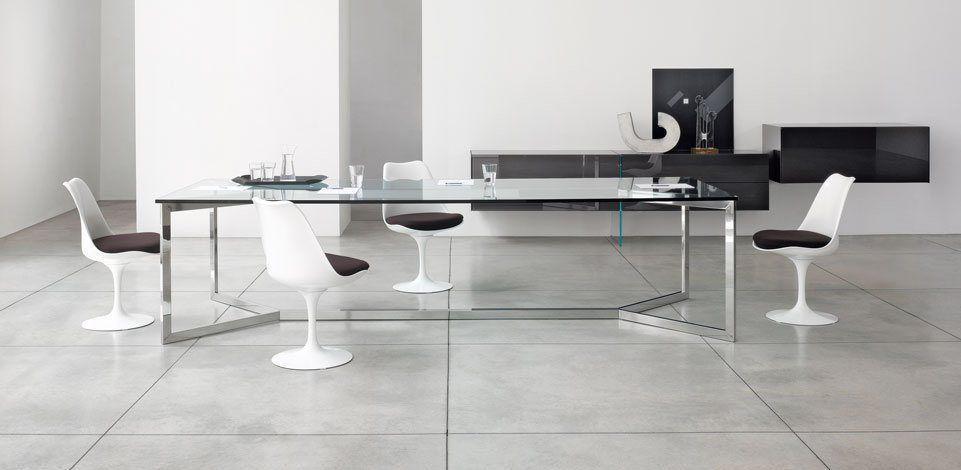 Tavolo Da Riunione In Vetro.Tavolo Da Riunione Moderno In Vetro In Acciaio