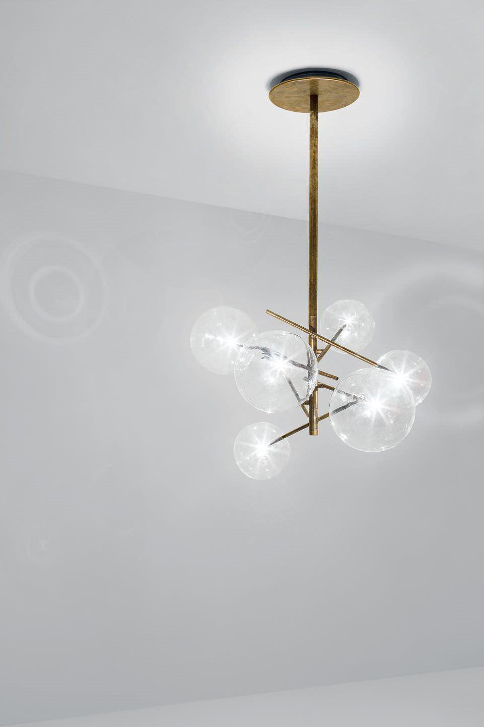 Lampadario moderno / in vetro / in vetro soffiato / in ottone ...
