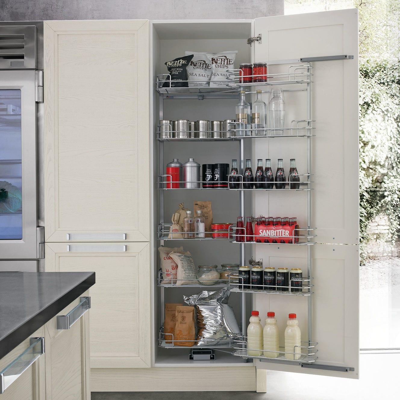 Mobile Alto Per Cucina Moderno Ginevra 2 0 Record Cucine In Legno Laccato