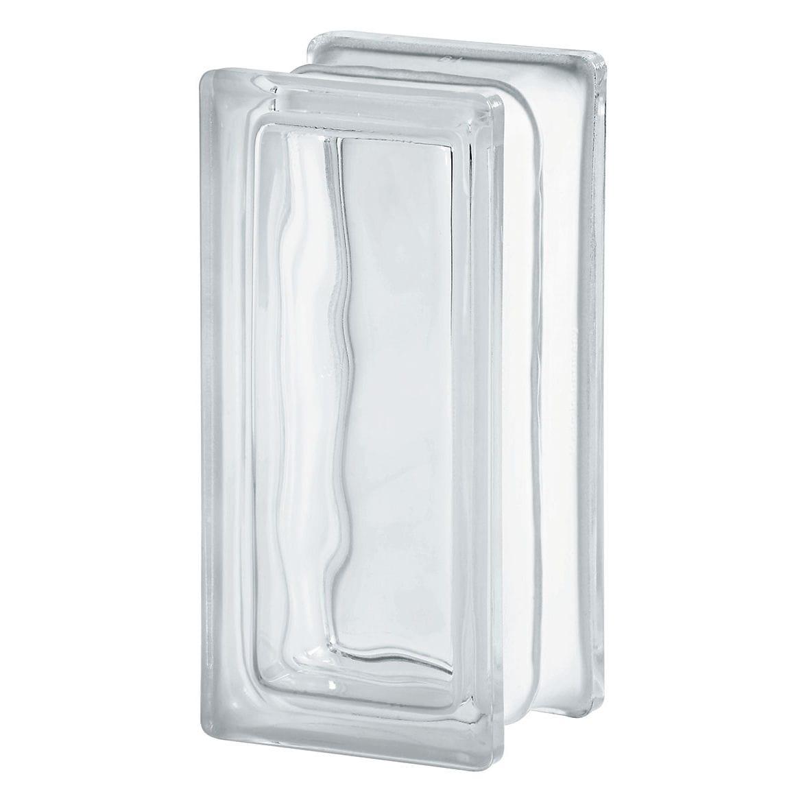 Pareti In Vetrocemento Prezzi mattone di vetro rettangolare - basic : clear 1909/8 wave