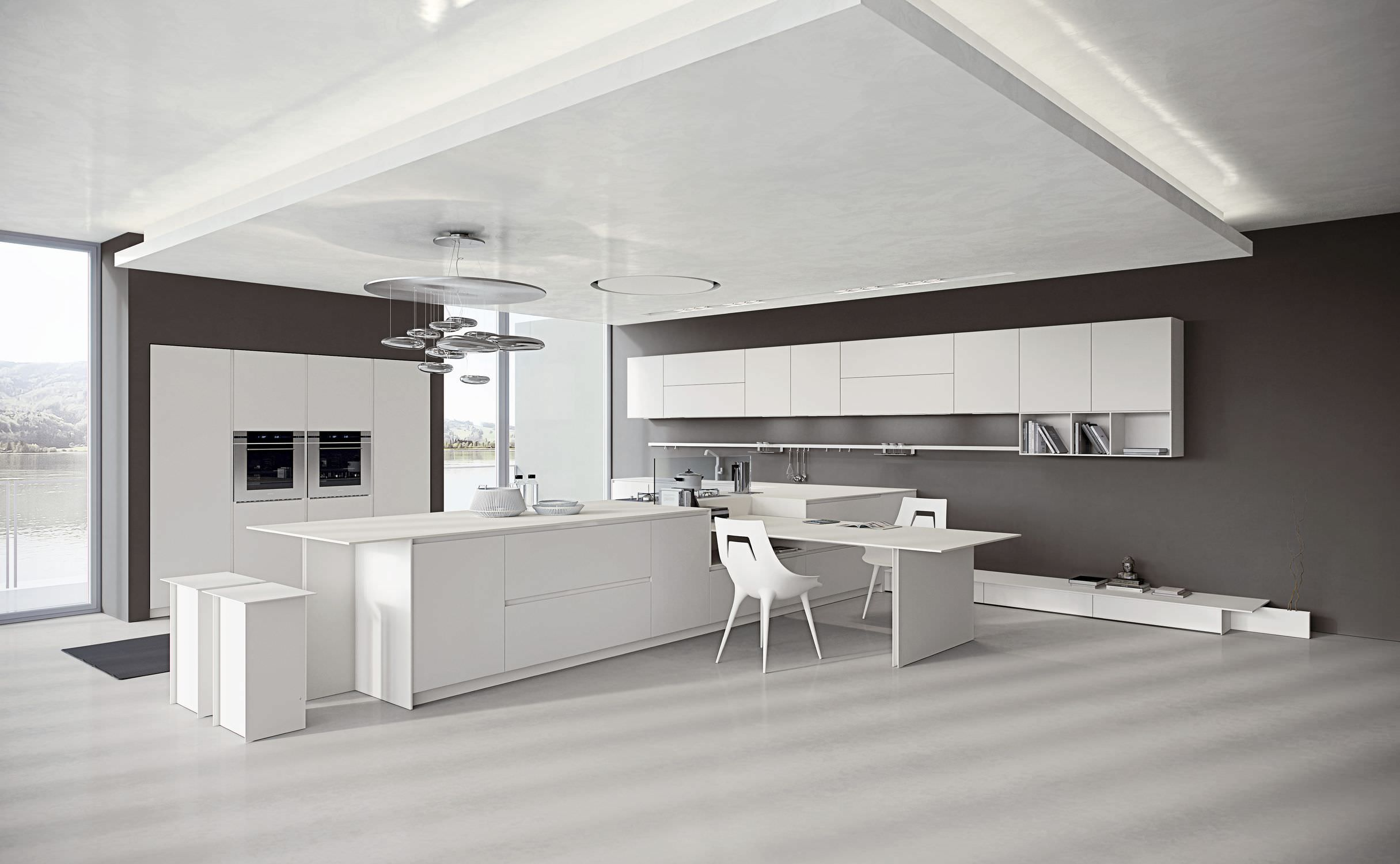 Cucina Moderna Bianca Laccata cucina moderna - ak_04 8 - arrital - in corian® / laccata