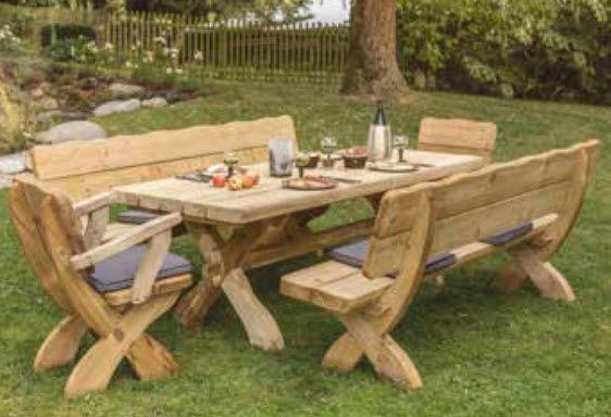 Tavoli E Panche Da Esterno.Set Tavolo E Panca Classico In Picea Da Giardino Da Esterno