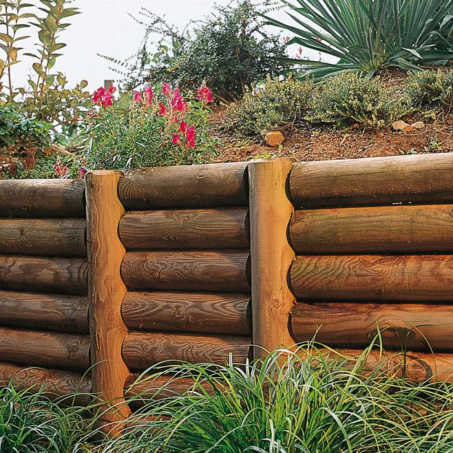 Recinzioni Per Giardino In Legno.Recinzione Da Giardino In Legno Palisade Robinia Braun Wuerfele