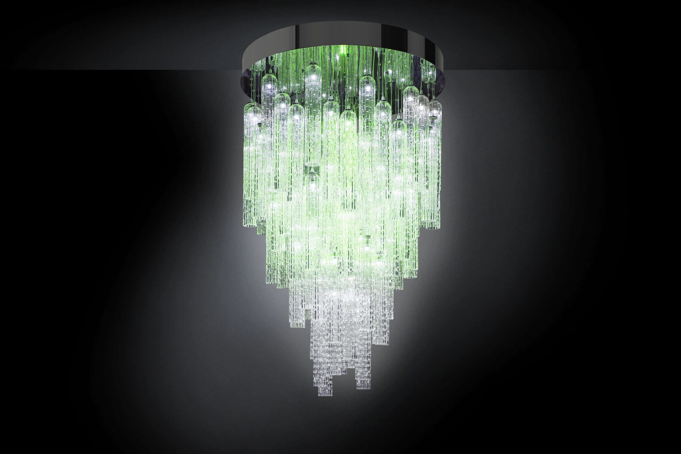 Lampadario moderno / in vetro di Murano / in acciaio inossidabile ...