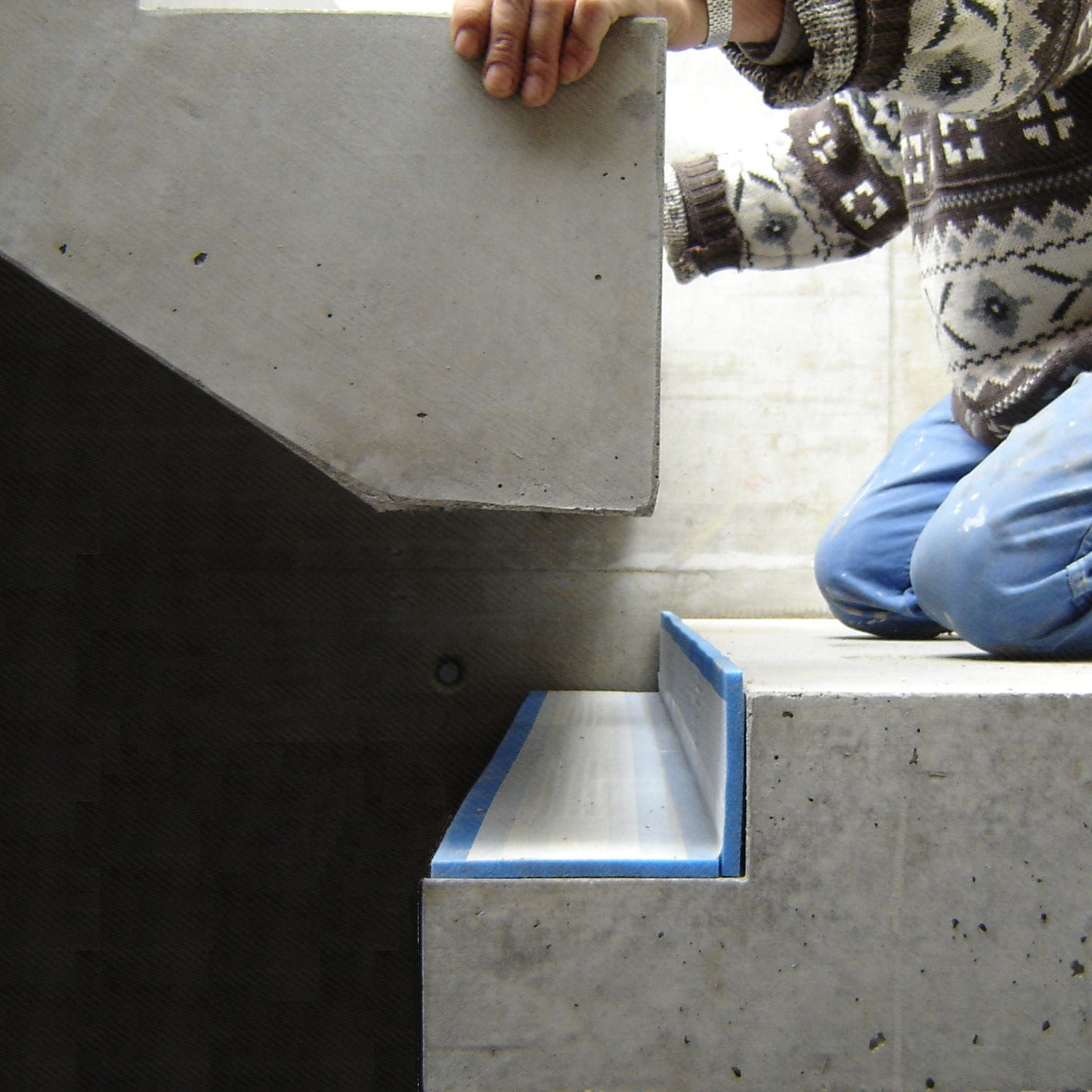 Taglio Solaio Per Scala sottofondo resiliente in fogli - vibrax-stair - mageba - in