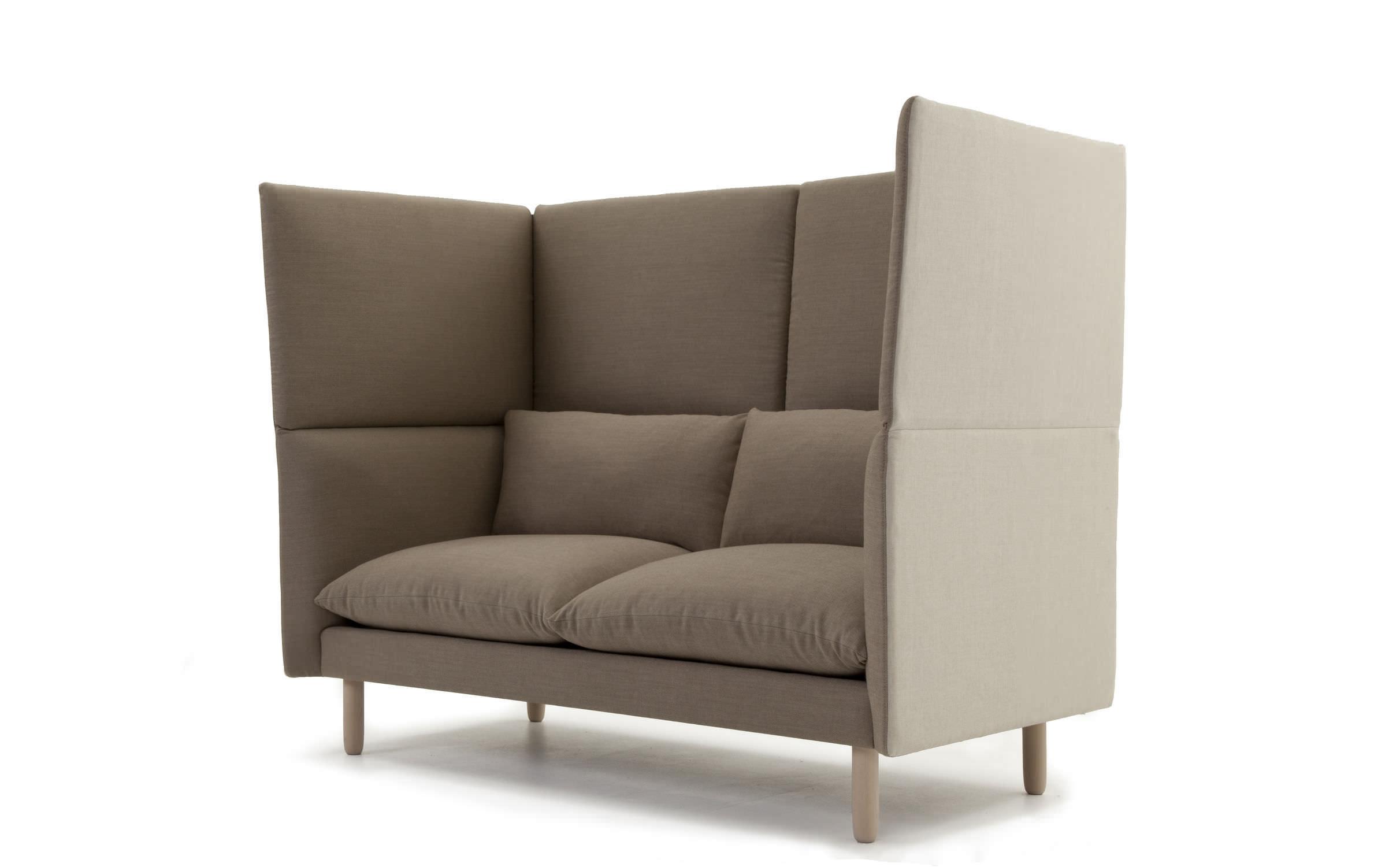 Divano moderno / in tessuto / 2 posti / con schienale alto ...