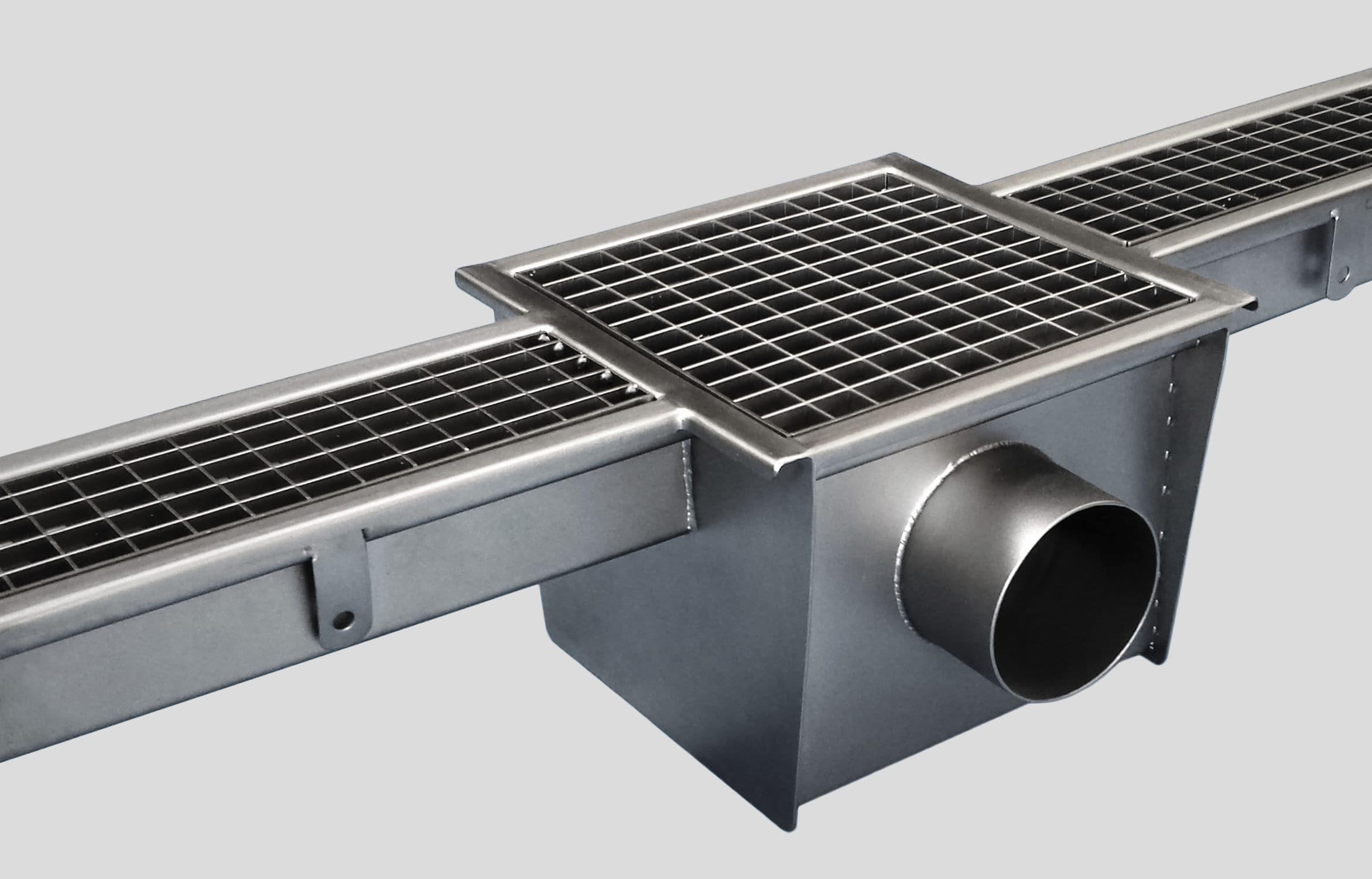 Canaletta In Acciaio Inox 2150 Inoxsystem S R L Con Griglie Per Cucina Da Pavimento
