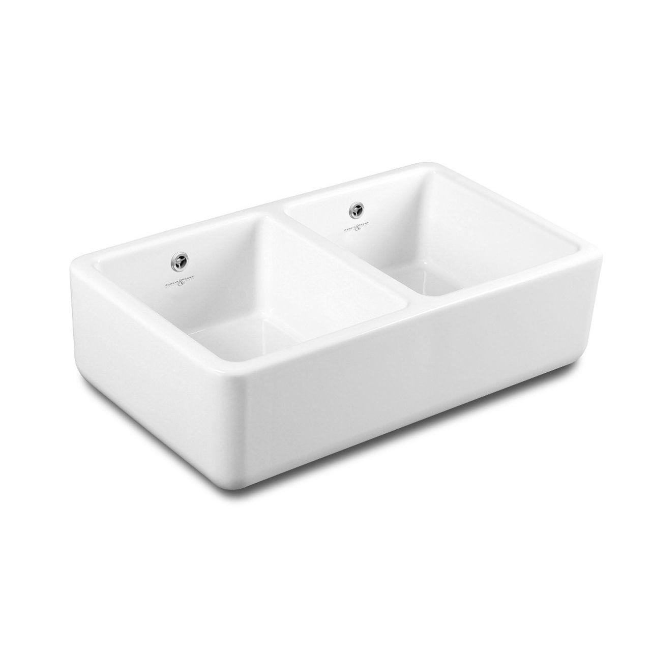 Lavello In Ceramica Da Cucina lavello a 2 vasche - 2475 - perrin & rowe - in ceramica / a
