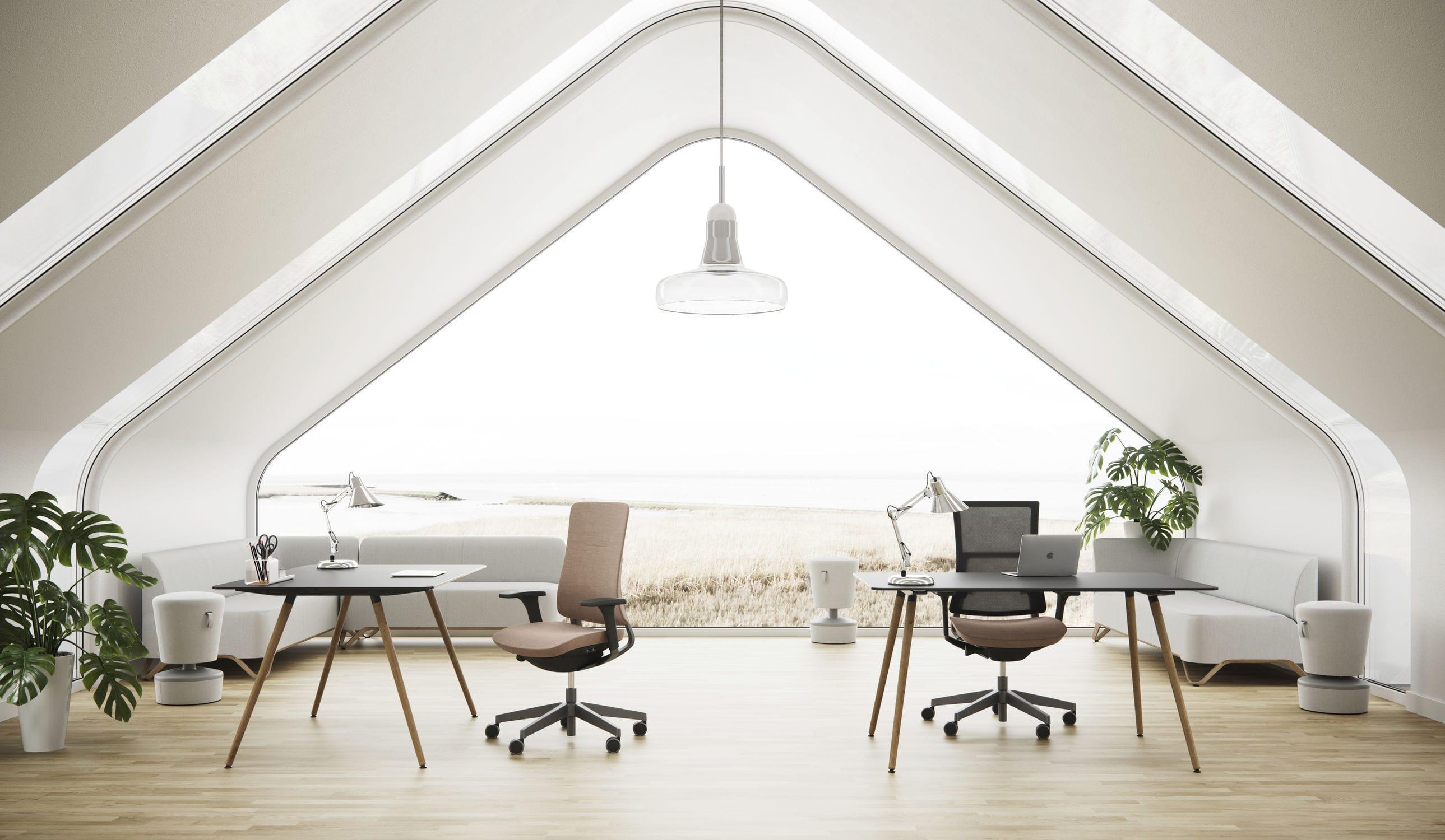 Sedia da ufficio moderna / con rotelle / con base a stella ...