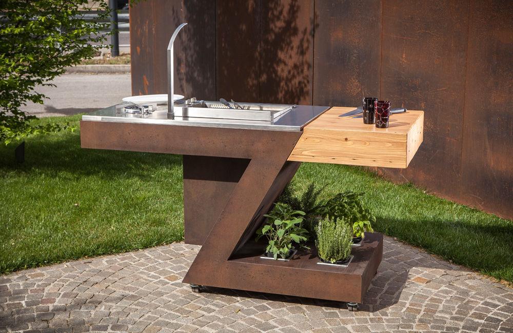 Cucina da esterno - TECKMAR SRL - moderna / in acciaio ...