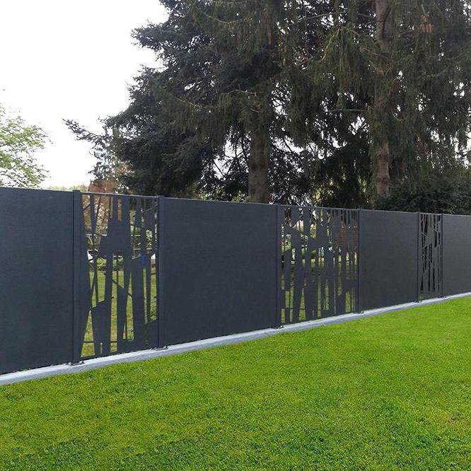 Recinzioni A Pannelli Chiusi.Recinzione Da Giardino A Pannelli In Alluminio Tinta