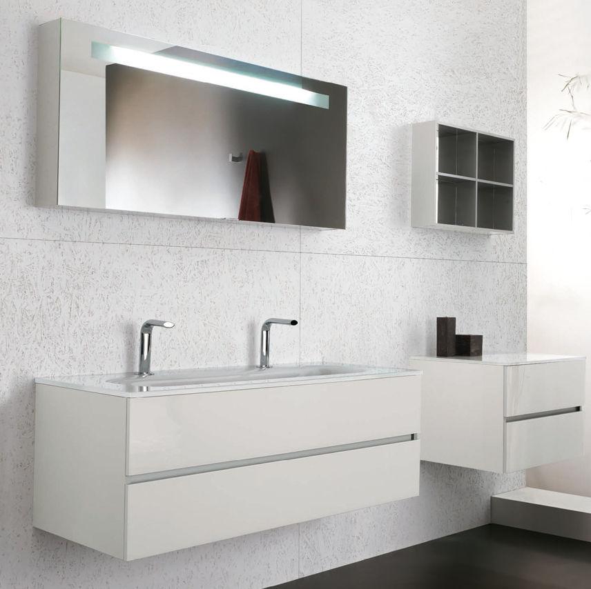 Mobile lavabo doppio / sospeso / in vetro / moderno - SOHO ...
