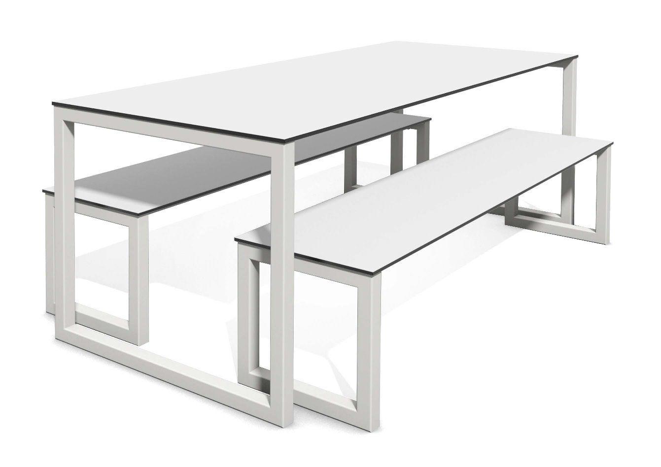 Tavoli E Panche Da Esterno.Set Tavolo E Panca Moderno Block Frovi In Acciaio Da