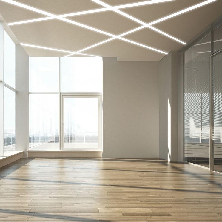 Illuminazione A Soffitto.Profilo Luminoso Da Incasso A Soffitto Led Sistema D