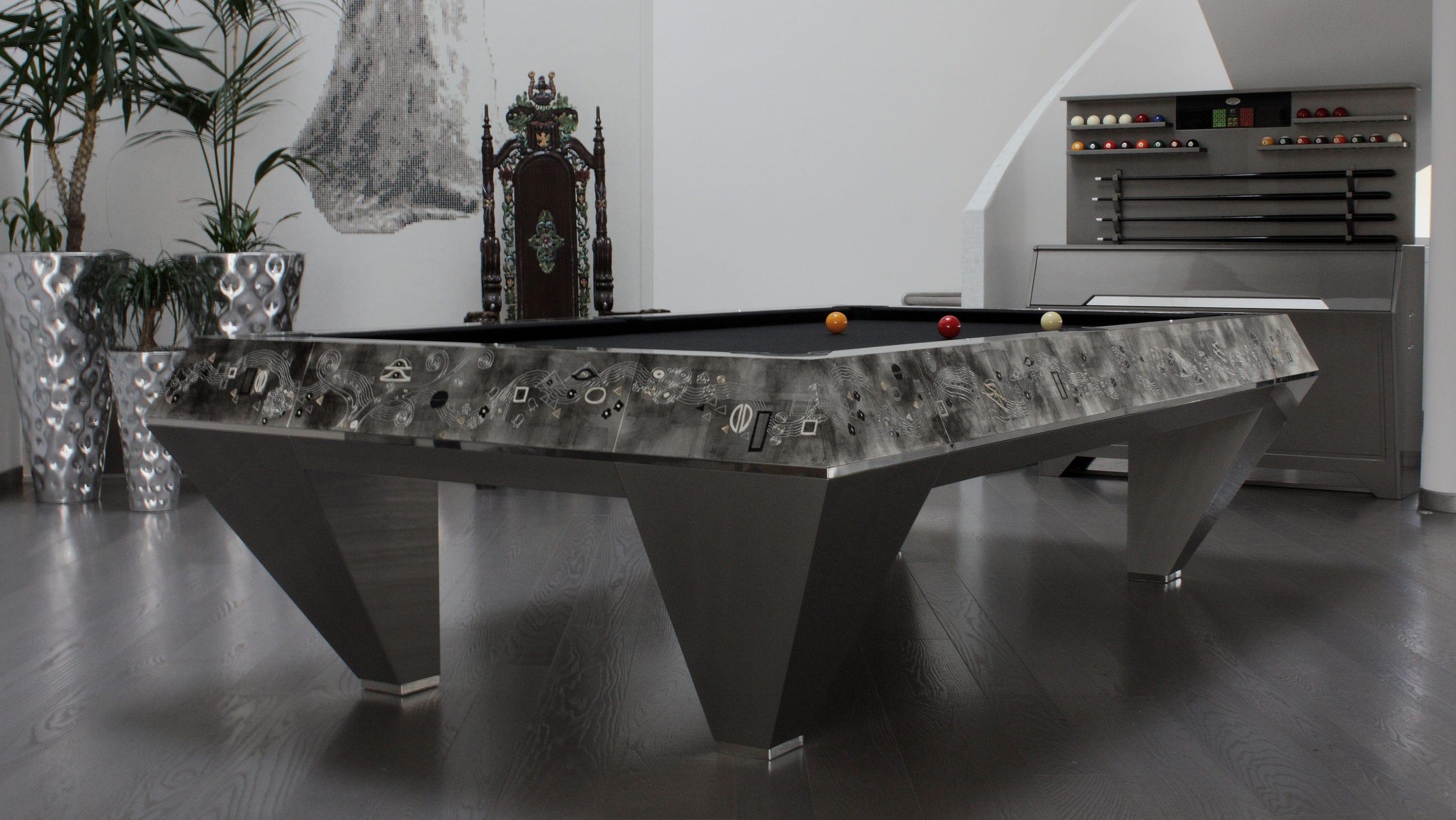 Tavolo Da Biliardo Moderno.Tavolo Da Biliardo Moderno Millenium Klimt Biliardi