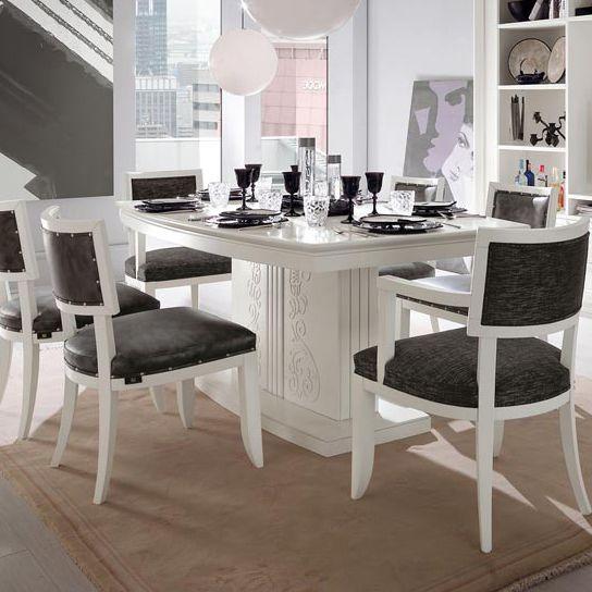 Tavolo Bianco Classico.Tavolo Da Pranzo Classico In Legno Laccato Rettangolare