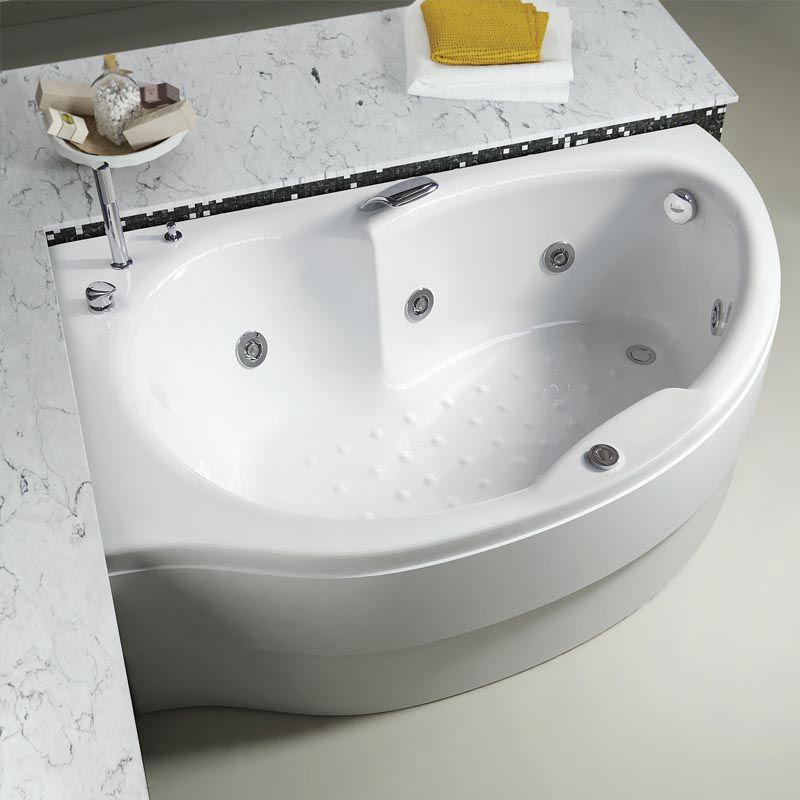 Vasca Da Bagno D Angolo Simy Relax Design Da Appoggio Idromassaggio In Acrilico