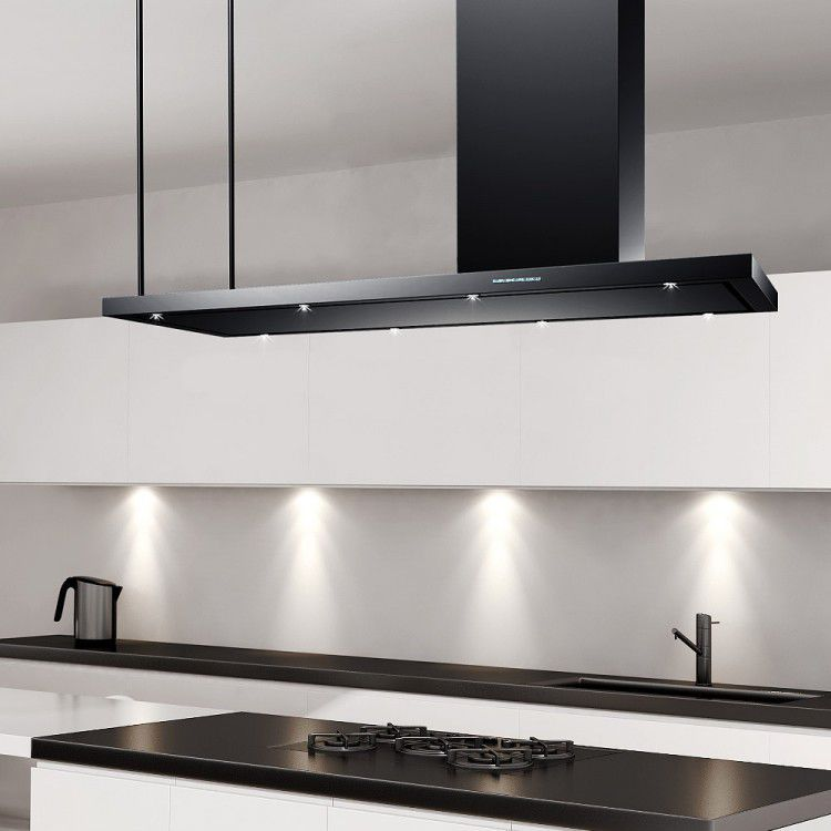 Cappa a isola / con illuminazione integrata / professionale  LA-120-AREZZO-ISL-BLK Luxair Cooker Hoods Kitchen Extractors