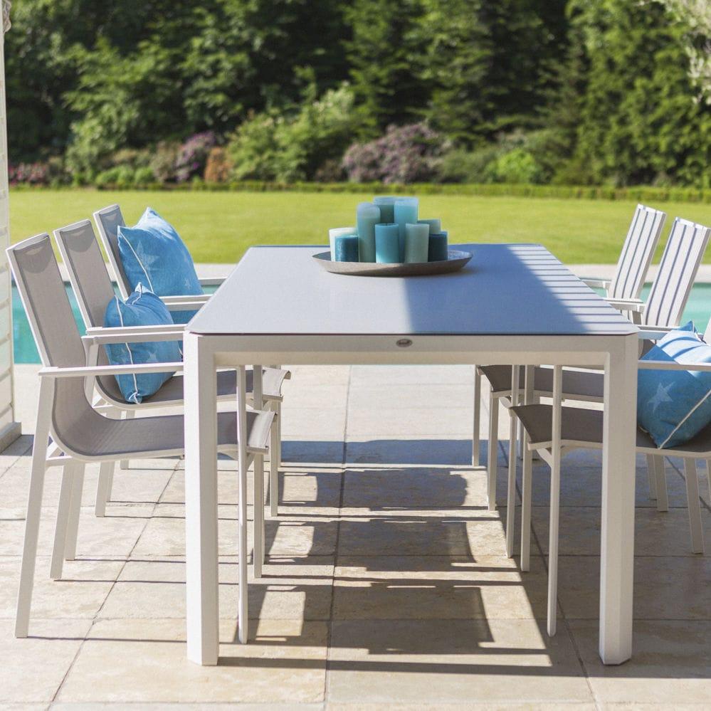 Tavolo In Alluminio Per Esterno.Set Tavolo E Sedia Moderno In Alluminio Da Giardino Per Uso