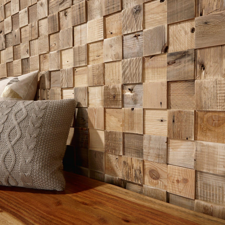 Rivestimenti In Legno Da Parete pannello decorativo di rivestimento - cube - timberwall - in