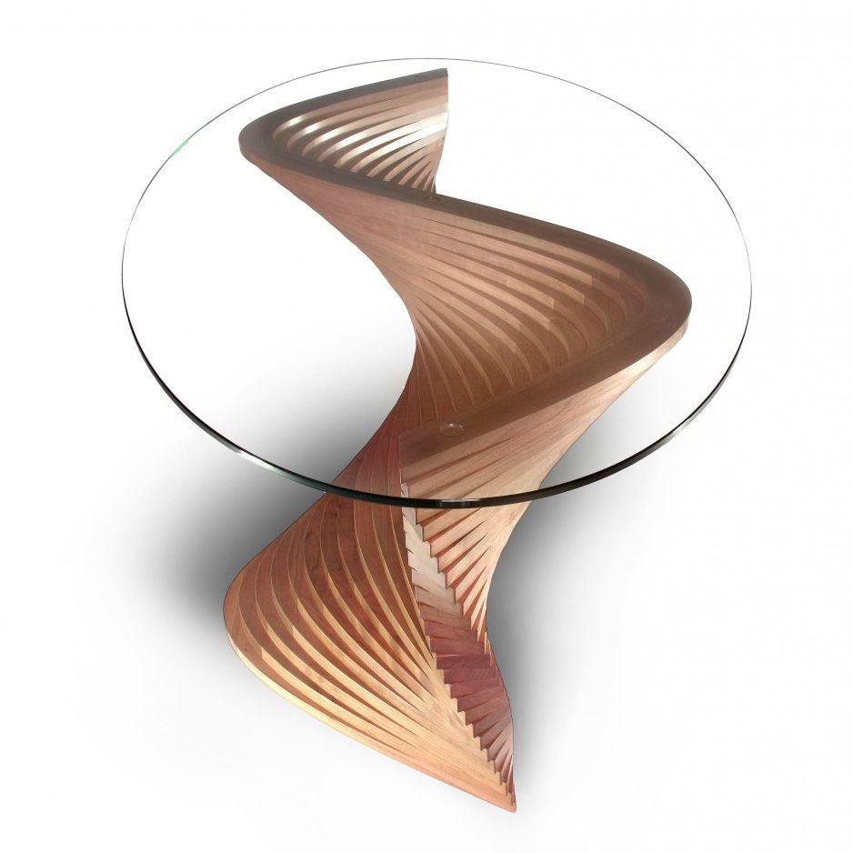 Tavolini Da Salotto Moderni In Ciliegio.Tavolino Basso Moderno In Ciliegio In Vetro Ovale