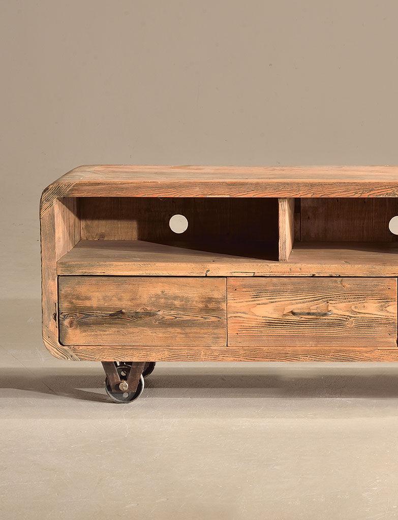 Mobile Tv Legno Massiccio.Mobile Porta Tv Moderno In Legno Massiccio Curvy Nature Design