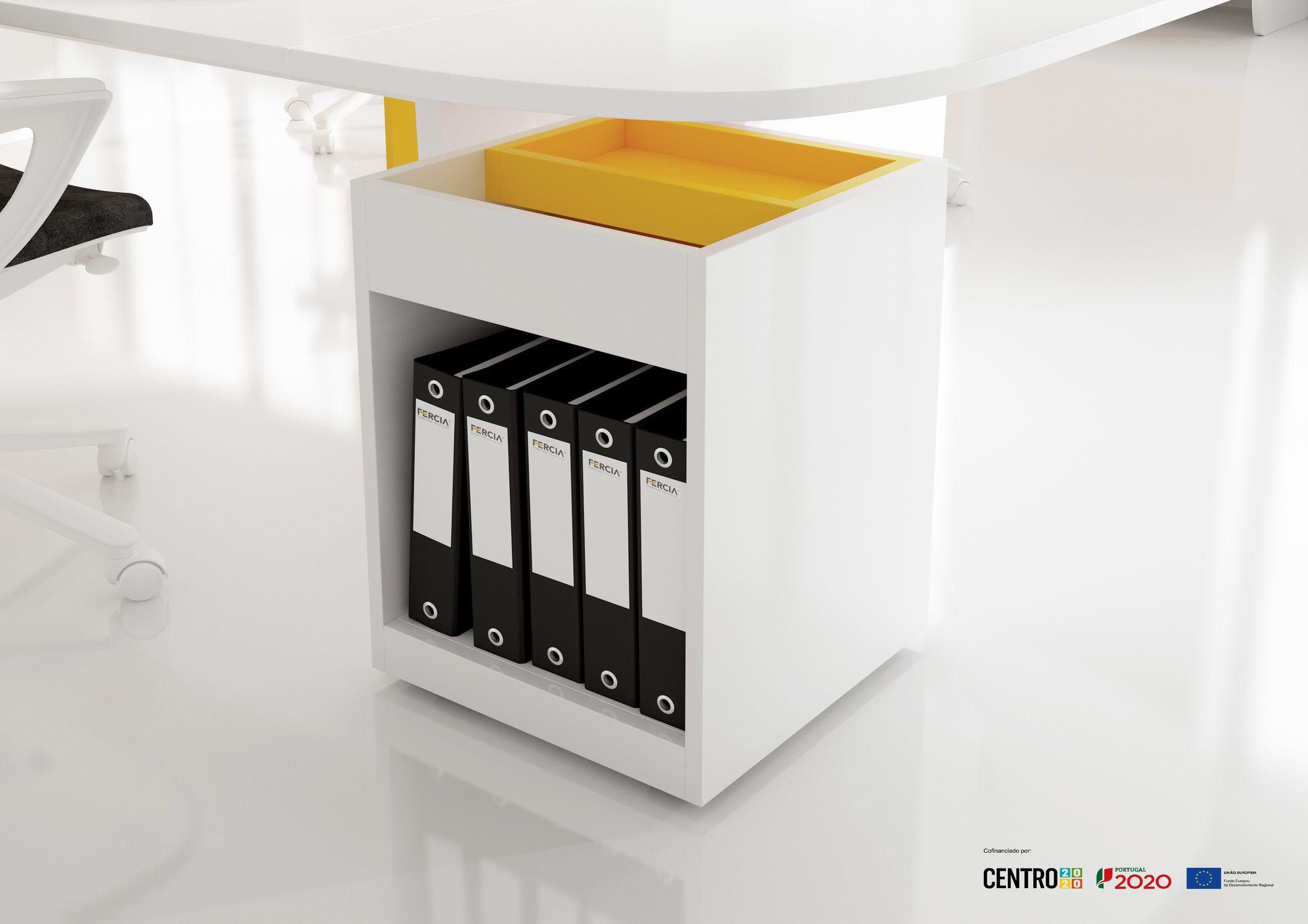 Cassettiera per ufficio in melamminico - BLOCK - FERCIA ...