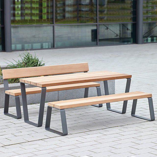 Panche E Tavoli Per Esterno.Set Tavolo E Panca Moderno Campus Bailey Streetscene In