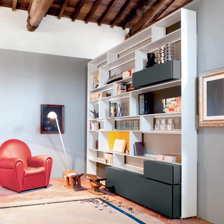 Albed Libreria Girevole Prezzo libreria a muro - line - albed - pavimento-soffitto