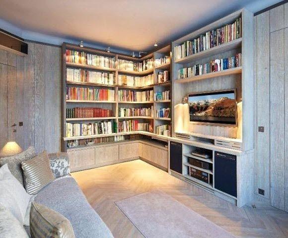 Librerie A Muro Su Misura.Libreria A Muro Xavie Z Moderna In Legno Quercia Antico Su