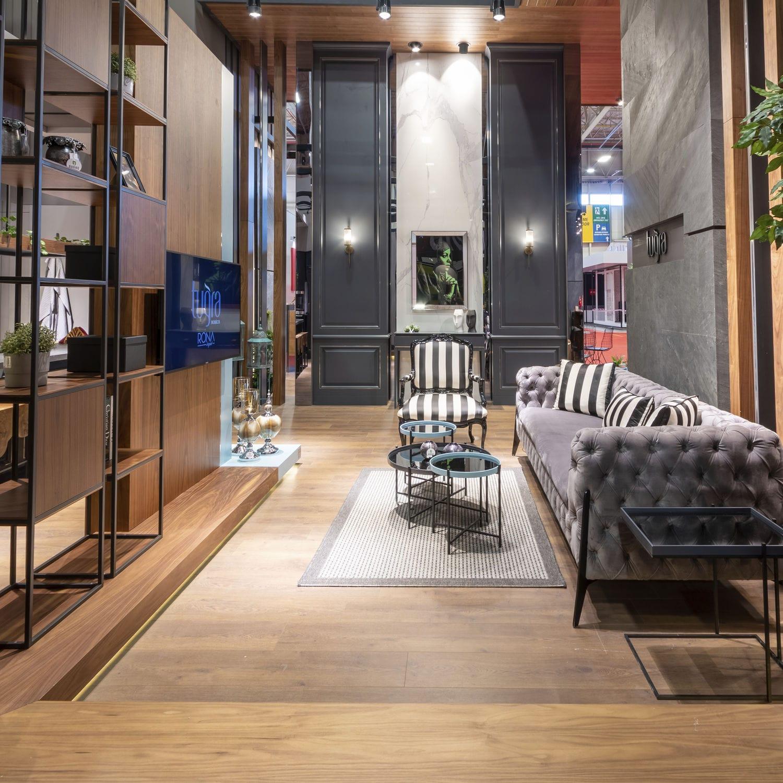 Parete attrezzata per soggiorno moderna - Tugra Mobilya ...