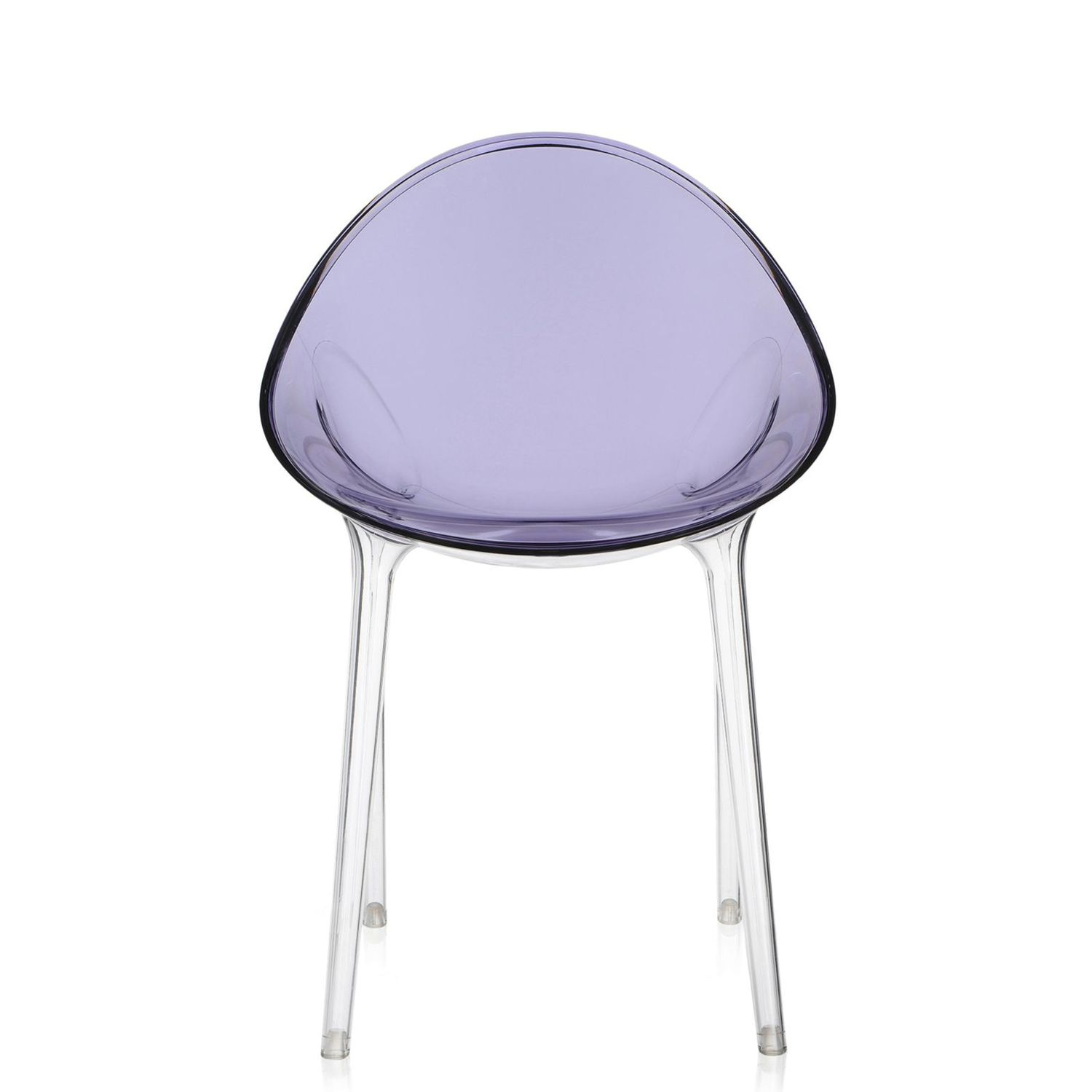 Sedie Policarbonato Trasparente Colorate.Sedia Design Organico Mr Impossible Kartell In