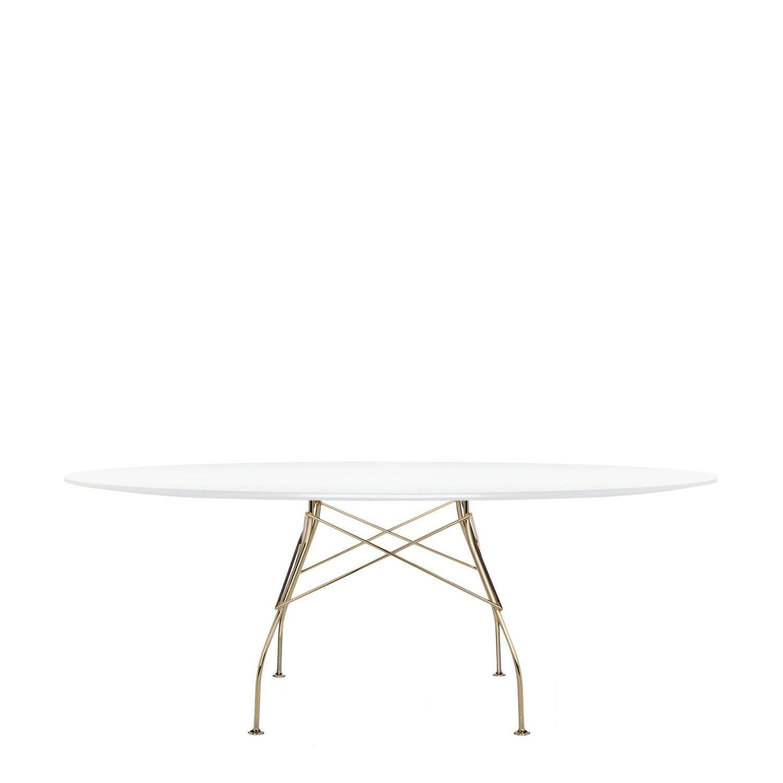 Kartell Tavoli Da Pranzo.Tavolo Moderno Glossy Kartell In Acciaio In Laminato In