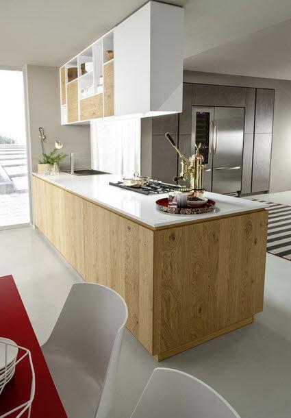 Cucina Moderna In Legno Massiccio Rovere.Cucina Moderna In Legno Massiccio In Legno Senza