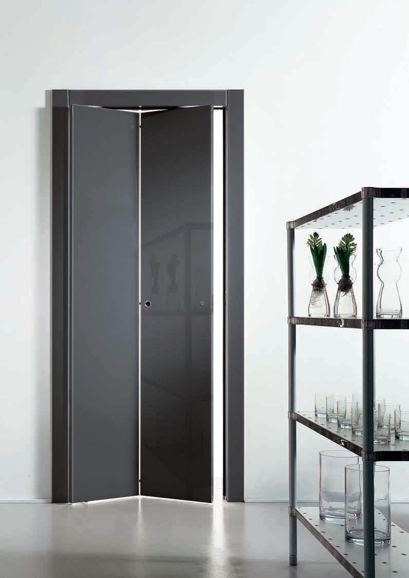 Porta da interni / a libro / in legno / laccata - LIBRO TRE ...