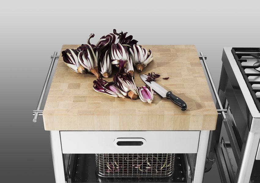Piano Da Lavoro Cucina In Legno.Piano Di Lavoro In Legno Da Cucina Cart 70 Alpes Inox