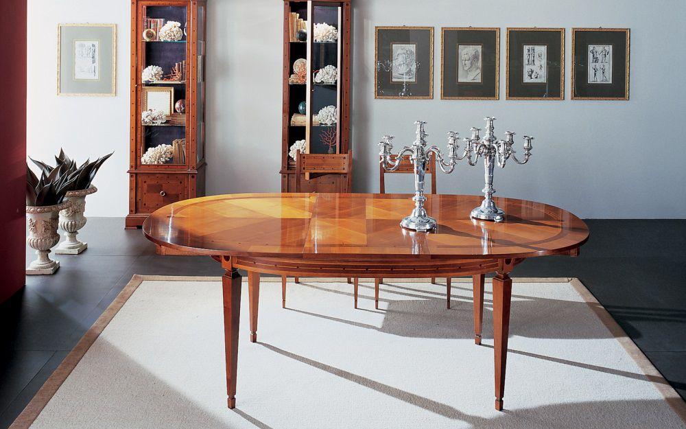 Annibale Colombo Mobili Classici.Tavolo Da Pranzo Classico In Ciliegio Ovale Allungabile