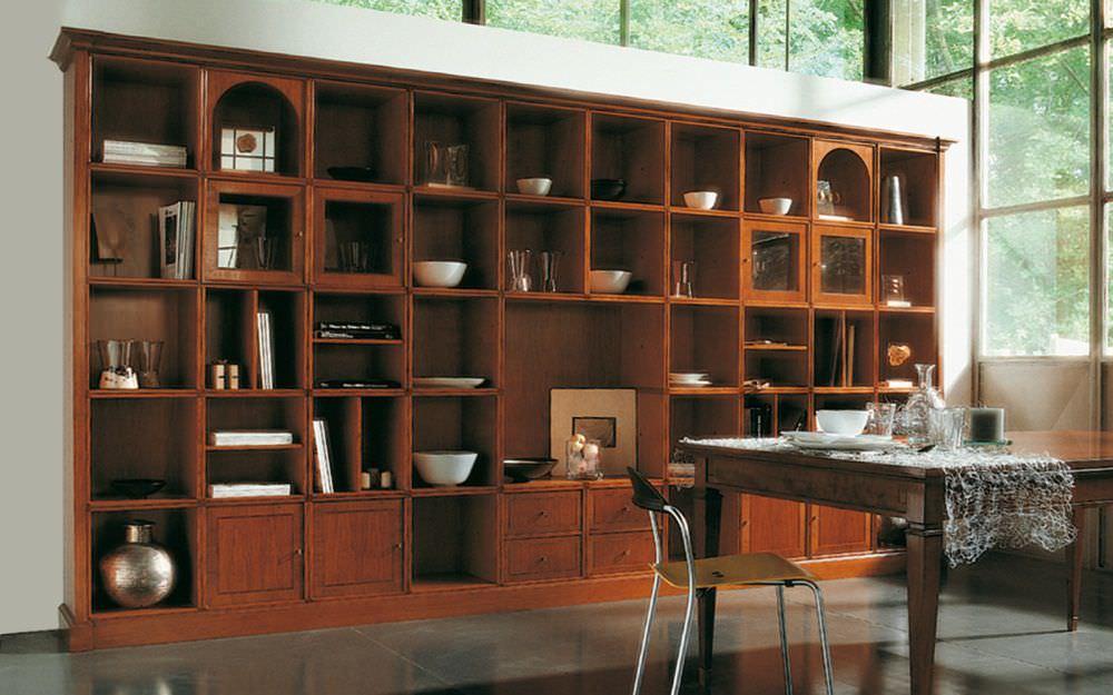 Librerie Di Legno Classiche.Libreria Classica In Legno L1203 Annibale Colombo