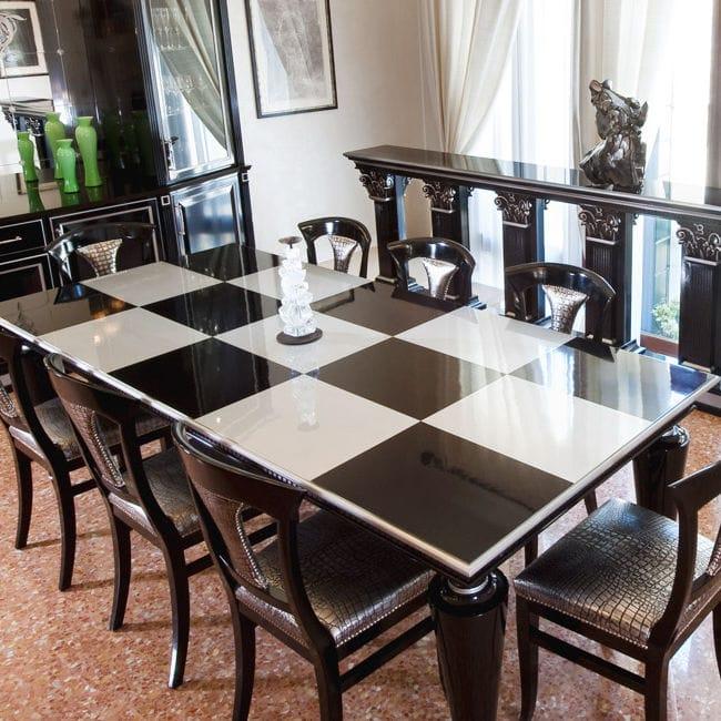 Tavolo Classico Moderno.Tavolo Da Pranzo Classico In Legno Laccato Rettangolare