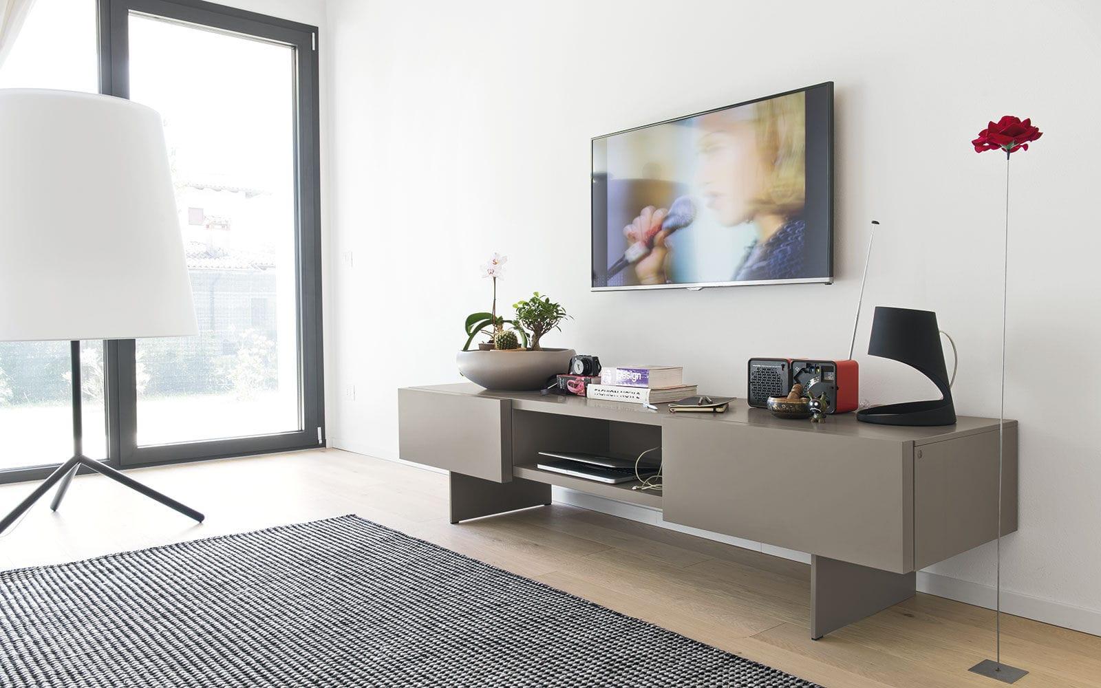 Calligaris Mobili Porta Tv.Mobile Porta Tv Moderno Lowboard In Legno In Metallo