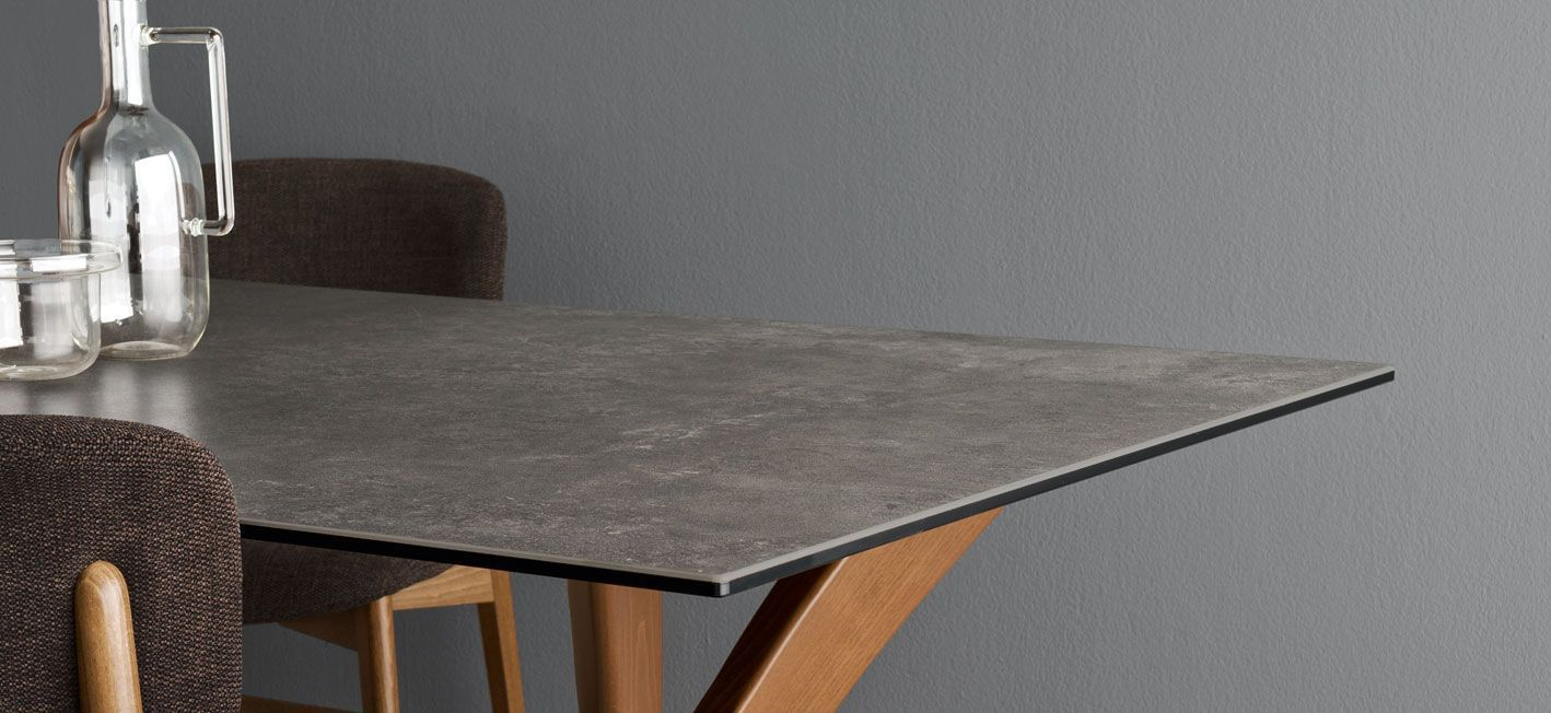 Tavolo moderno / in legno / in vetro / in ceramica - TOKYO - calligaris