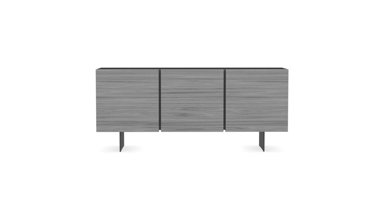 credenza moderna / in legno / in metallo / bianca