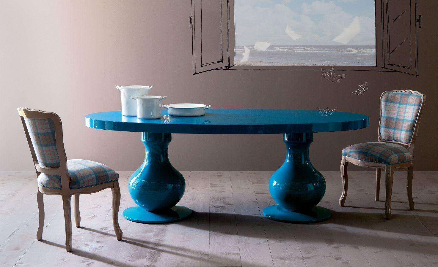 Tavolo Cristallo Nuovo.Tavolo Da Pranzo Design Nuovo Barocco In Cristallo Ovale