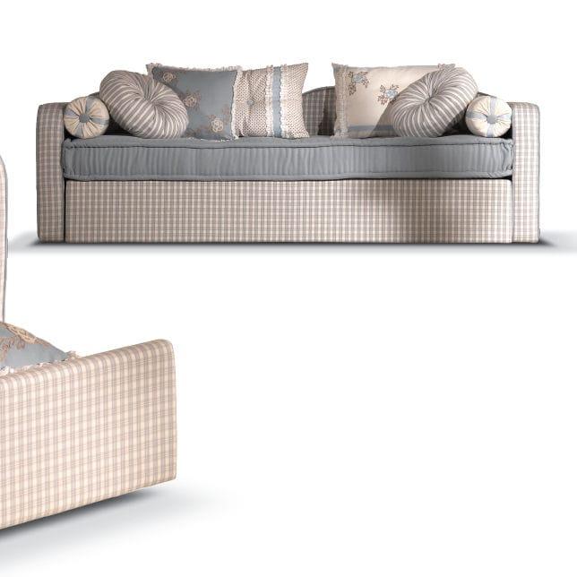 divano classico / in tessuto / con letto estraibile / multicolore