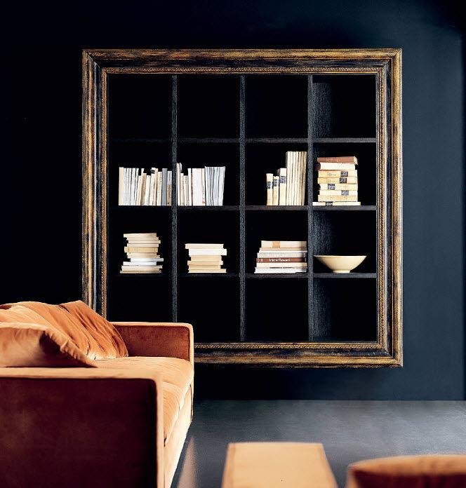 Libreria A Muro In Legno.Libreria A Muro Moderna In Legno