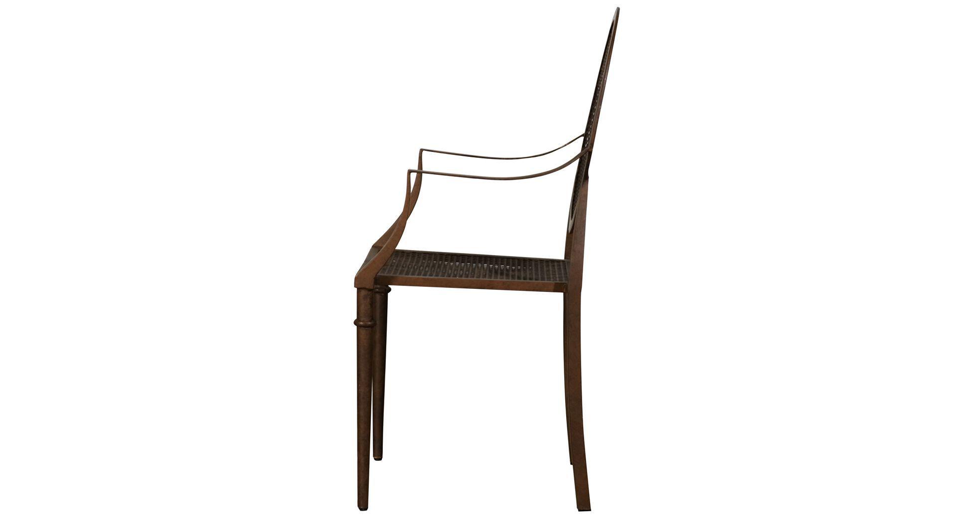 sedia Luigi XV / con braccioli / a medaglione / in legno